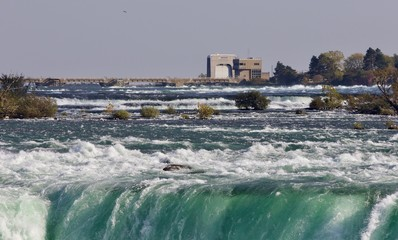Isolated photo of an amazing Niagara waterfall