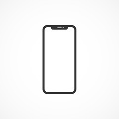 Vector image of mobile phone icon.