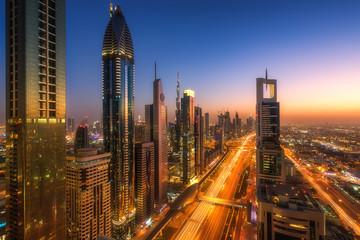 Beautiful panorama from Dubai Downtown