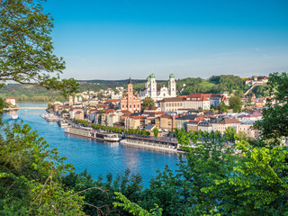 Stadtansicht von Passau in Bayern