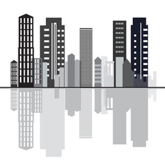 City creative sky line background