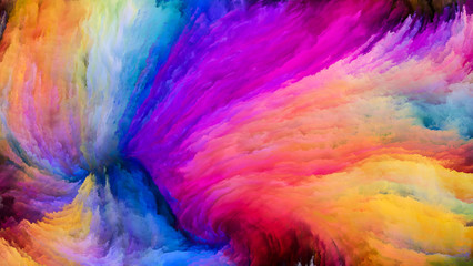 Elegance of Colorful Paint