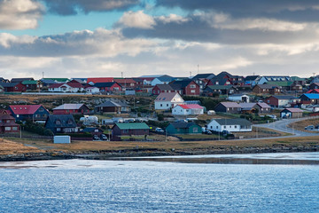 View of Stanely from Stanley Harbour, Falkland Islands Fotomurales