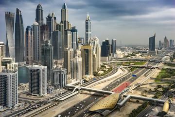 Traffic in the Big Metropolis, Dubai, United Arab Emirates, Jan.2018
