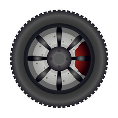 Tire with studs