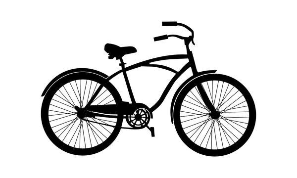 hybrid bike silhouette vector.