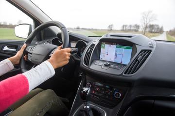 Navigationssystem im PKW