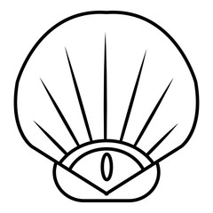 Sea shell icon. Outline illustration of sea shell vector icon for web