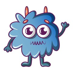 Furry monster icon. Cartoon illustration of furry monster vector icon for web