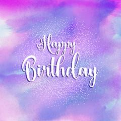 Happy Birthday watercolour background