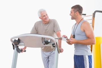 Trainer timing senior man