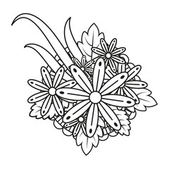 Abstract flowers. Vector Illustration.