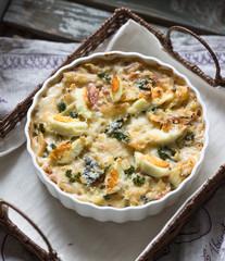 野菜と卵のグラタン