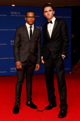 Parkland High School student Hogg and Kelly arrive on the red carpet at the White House Correspondents' Association dinner in Washington
