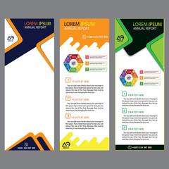 vertical banner design for promotion, publication, and presentation