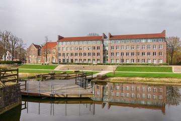 Rathaus und Stadtverwaltung in Lüdinghausen, Münsterland, Nordrhein-Westfalen