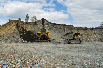 Development of a quarry for extraction of silica refractory rock.