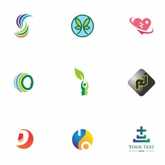 logo set design for element, geometric, website, and identity
