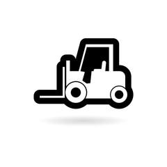 Forklift icon, Forklift truck