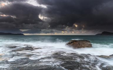 Sunrise Seascape with Clouds