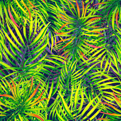 seamless texture pattern leaves green palm trees