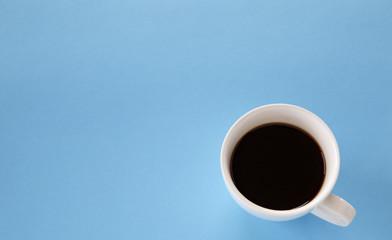 Black coffee in white mug