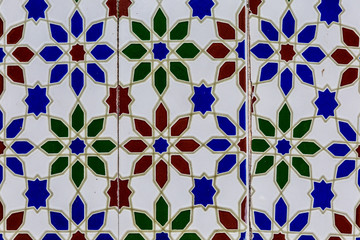 Blue and red pattern
