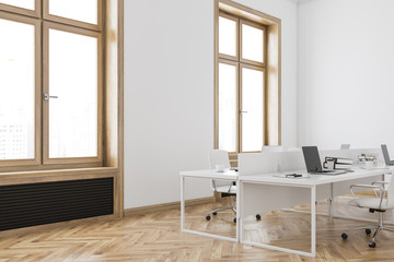 Wooden frame office corner