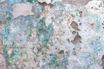 Old dirty cement wall with paint