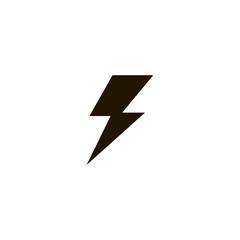 lightning icon. sign design