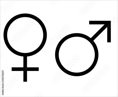 Gender Symbol Icon Male Female Biological Sex Symbol Icon Stock