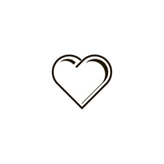 heart icon. sign design
