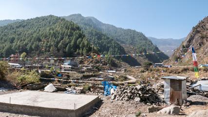 Tibetisches Bergdorf in Nepal