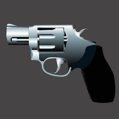 Vector illustration of a gun.