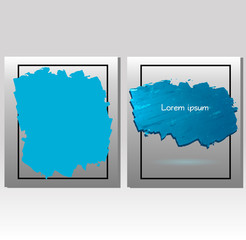 bright blue oil paint vector spot