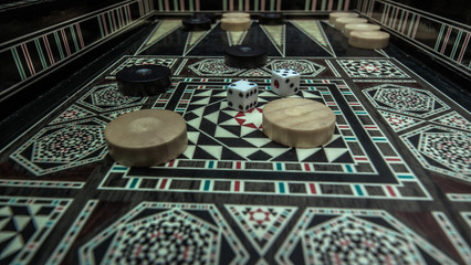 Board game backgammon
