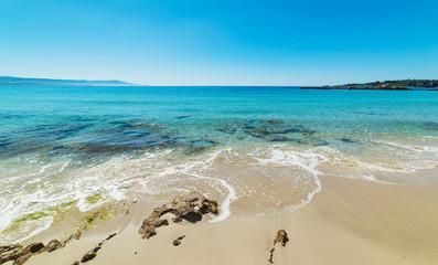 Blue sea in Le Bombarde beach in Alghero