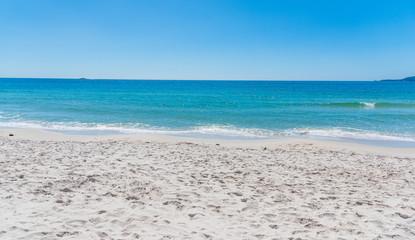 White sand in Maria Pia shore in Alghero