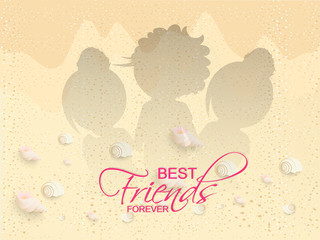 nice and beautiful abstarct or poster for Friendship Day or Best Friend Forever with nice and creative design illustration.