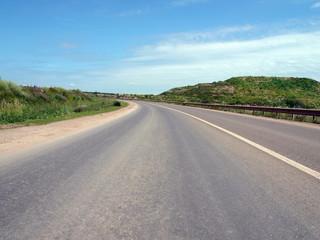 road and sky at summer