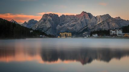 Misurina See - Sonnenaufgang am Misurina See - Dolomiten -  in der Nähe von Cortina d'Ampezzo