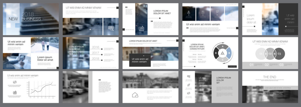 Snapshots of business presentation template