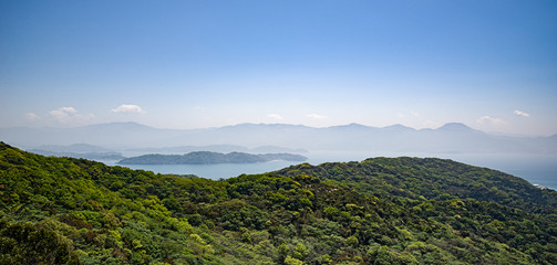 landscape view from mount Tateishi, Japan