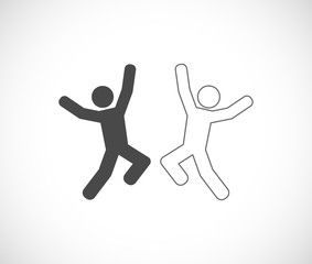 happy person jumping icon