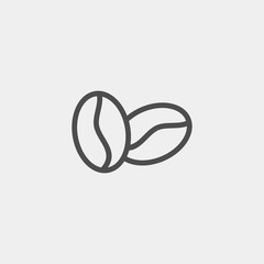 Coffee beans flat vector icon