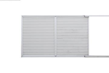 White metal sliding window isolated on white background