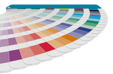 Color guide swatches used in prepress and industrial printing