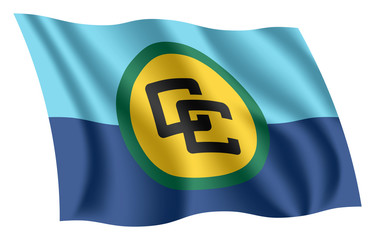 Caribbean Community flag. Flag of CARICOM. International organization flag.
