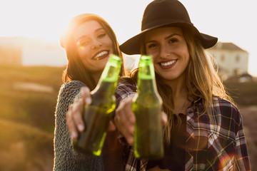 Enjoying life with a toast