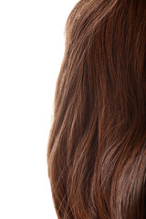 piece of brunette brown hair isolated